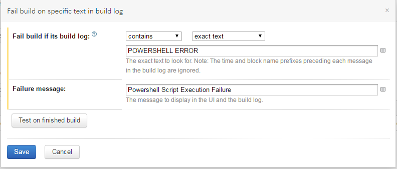 powershell failure condition